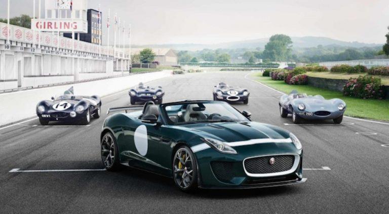 O brasileiro Cesar Pieri desenvolveu em 2013 o Jaguar F-Type Project, uma releitura do clássico britânico D-Type. Foto: Jaguar/Divulgação
