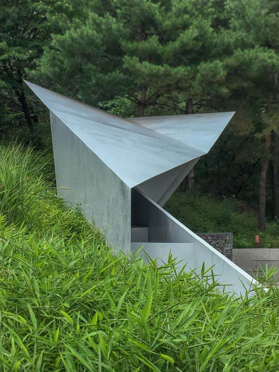 Seoul City Wall Visitor Pavilion, Seoul, Korea by Jo Jinman Architects shot by Jim Kostecky