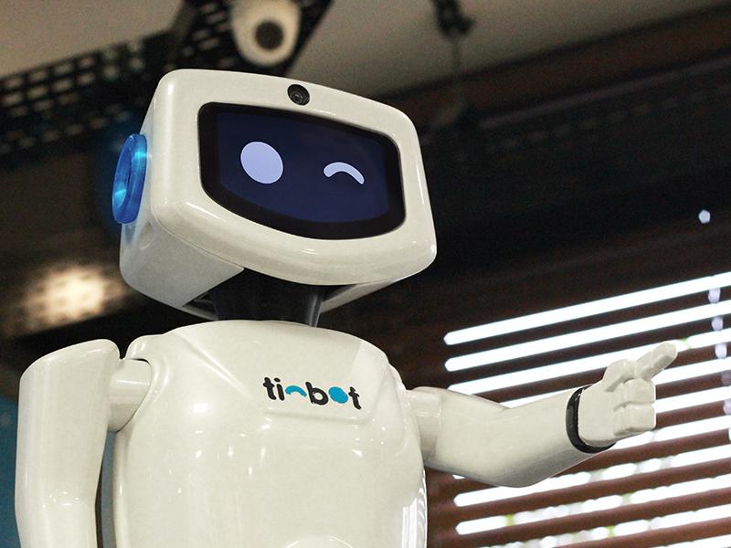 Robô Tinbot foi outro dos projetos selecionados para a exposição do MCB. Foto: Divulgação