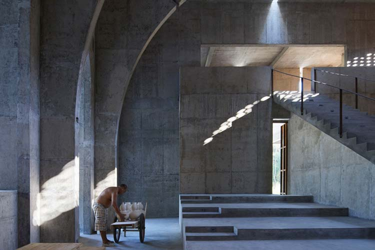 Interior category winner: BingDing Wood Kiln Factory in Qiancheng village, China. Photography: He Zhenhuan/APA19/Sto