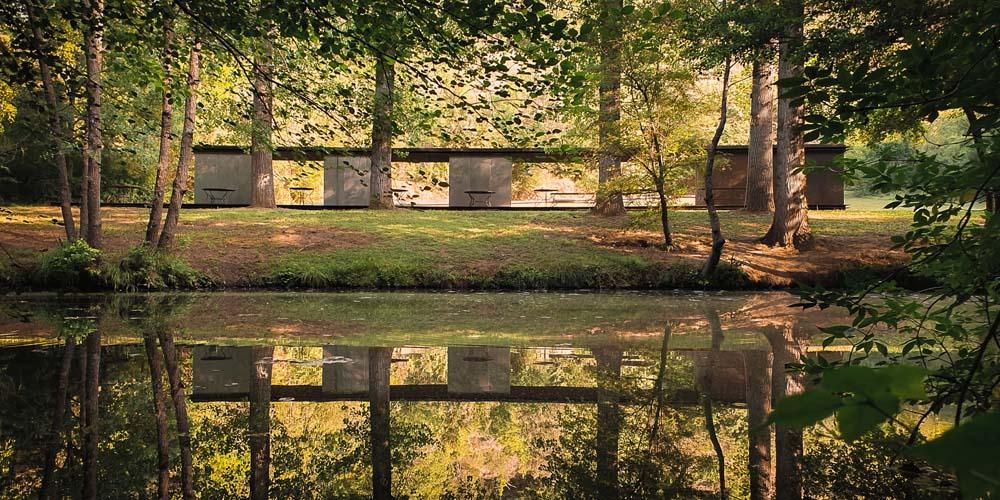 Tzu Chin Yu's photograph of the Bathing Pavilion Tossols-Basil, Olot, Spain by RCR Arquitectes