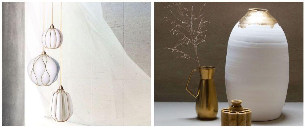 Entre as peças expostas na feira, o dourado reaparece fosco e brilhante. Foto: Reprodução/ Instagram
