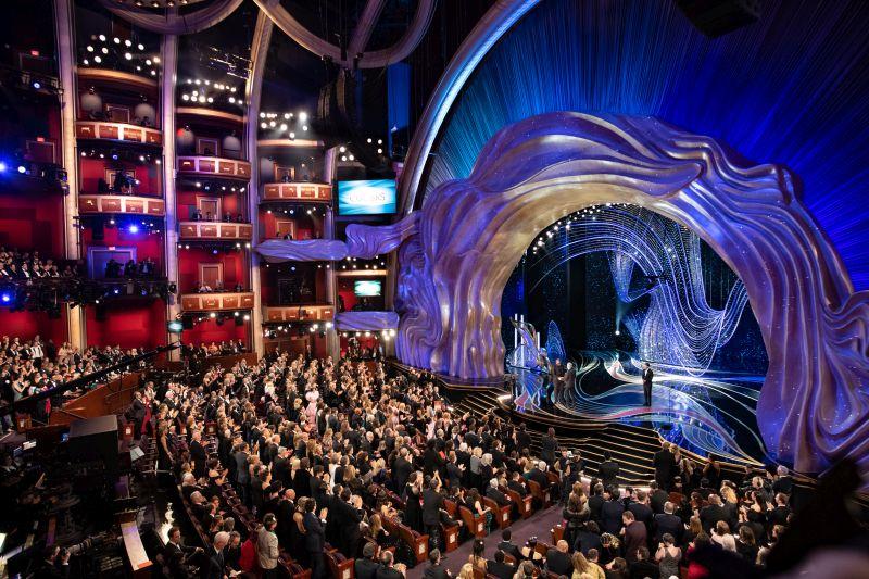 Palco da cerimônia de entrega do Oscar 2019. Foto: Todd Wawrychuk, Kate Noelle, A.M.P.A.S./ Divulgação Oscar