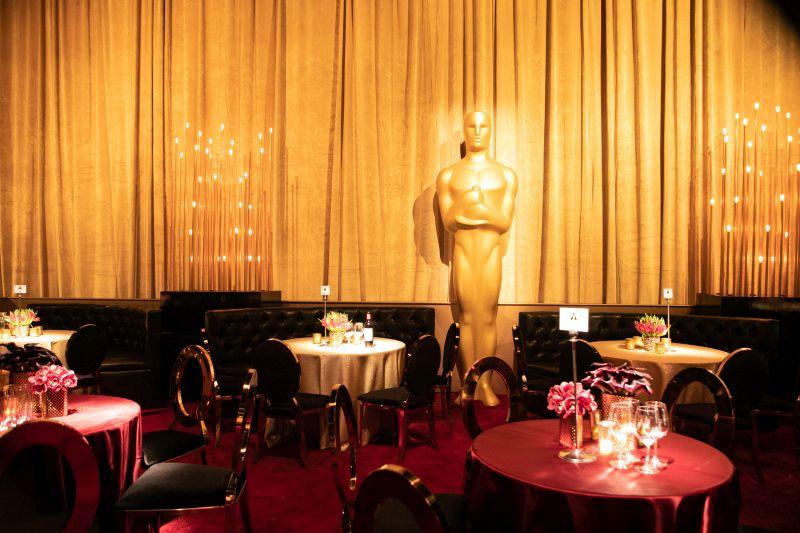 Mesa do Governors Ball durante o Oscar 2019. Foto: Todd Wawrychuk, Kate Noelle, A.M.P.A.S./ Divulgação Oscar