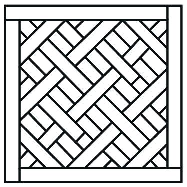 Paginação Dijon que remonta aos desenhos dos mosaicos franceses do século 17.