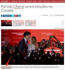 Não, imprensa, quem venceu no Canadá foi a esquerda