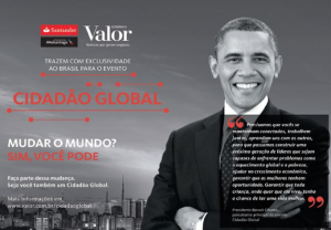 "Obama, o ""cidadão global"", vai palestrar no Brasil para a elite"