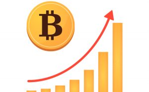 Illustration of open currency source money Bitcoin