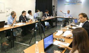 Os blogueiros reunidos com Lula: grupo ficou conhecido como esgotosfera