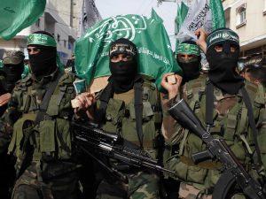 """Terroristas do Hamas, que a esquerda radical defende. Mas a preocupação é com o """"discurso de ódio"""" da direita."""