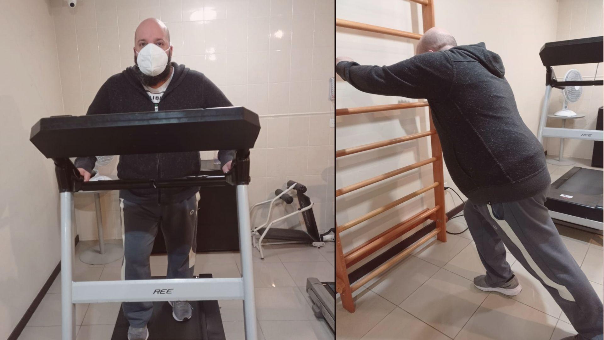 Exercícios físicos passaram a fazer parte da rotina após a superação da Covid-19. Fotos: Arquivo pessoal/Frederico Mont'Alvão