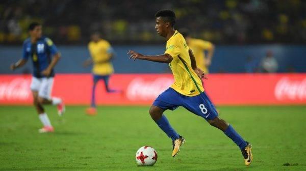 Marcos Bahia foi um do grandes destaques da seleção sub-17 em 2017. Foto: Divulgação/CBF.