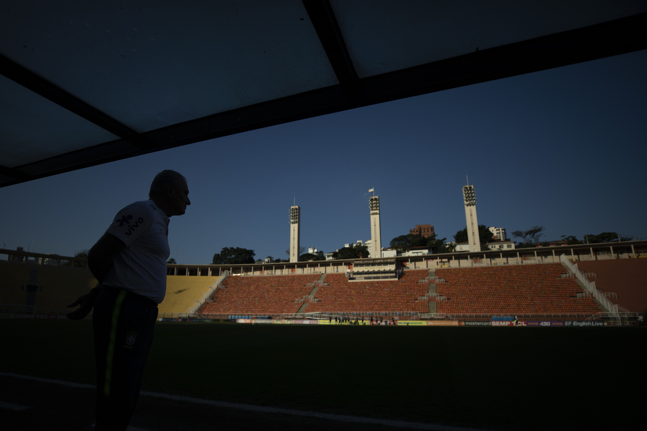 Treino da Seleção Brasileira no Pacaembu.  Lucas Figueiredo/CBF