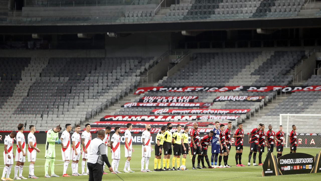 Athletico x River Plate sem torcida no estádio. Foto: Albari Rosa/Foto Digital/UmDois Esportes