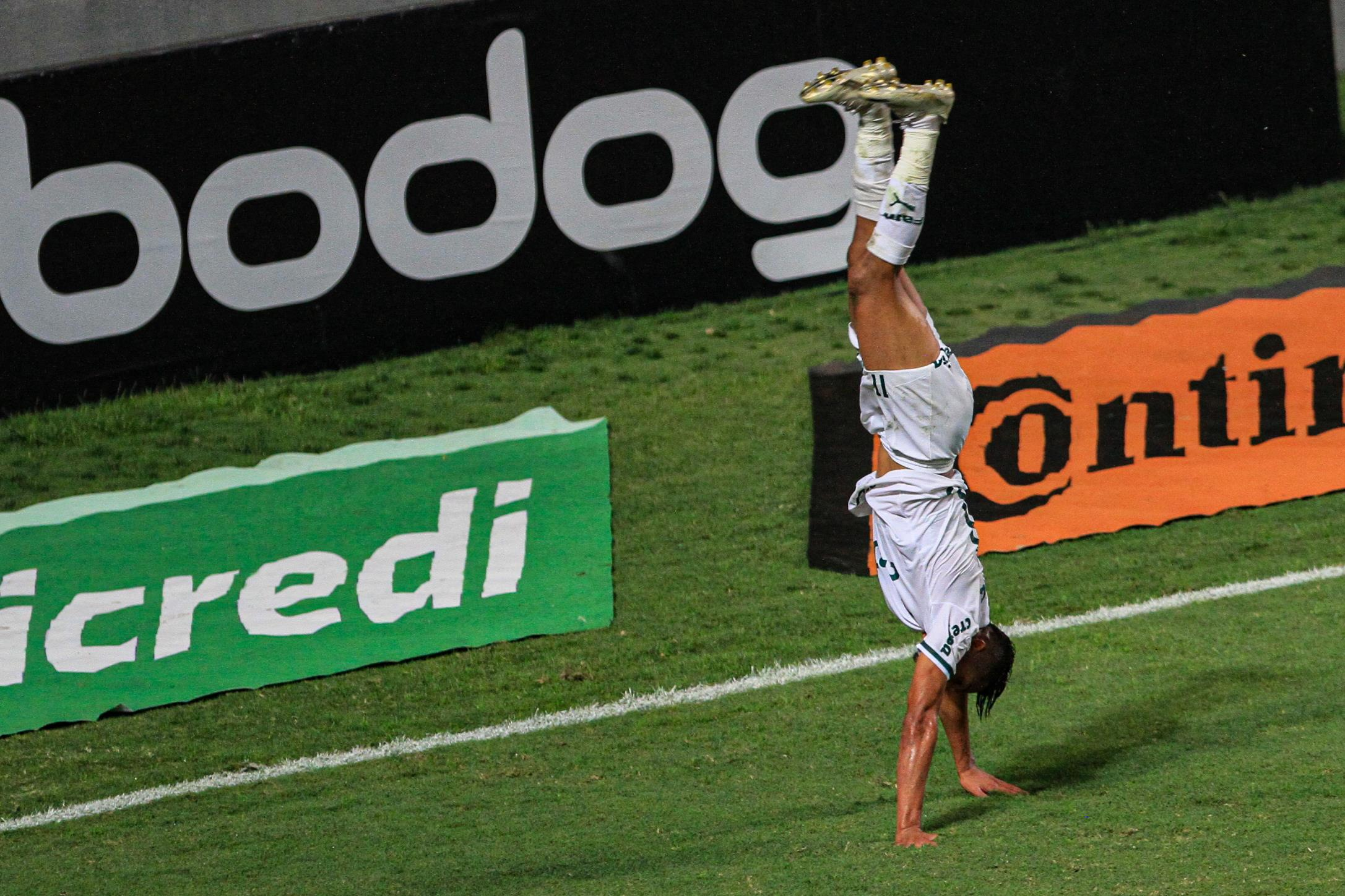 Rony comemora segundo gol do Porco. Foto: RODNEY COSTA/FUTURA PRESS/FUTURA PRESS/ESTADÃO CONTEÚDO