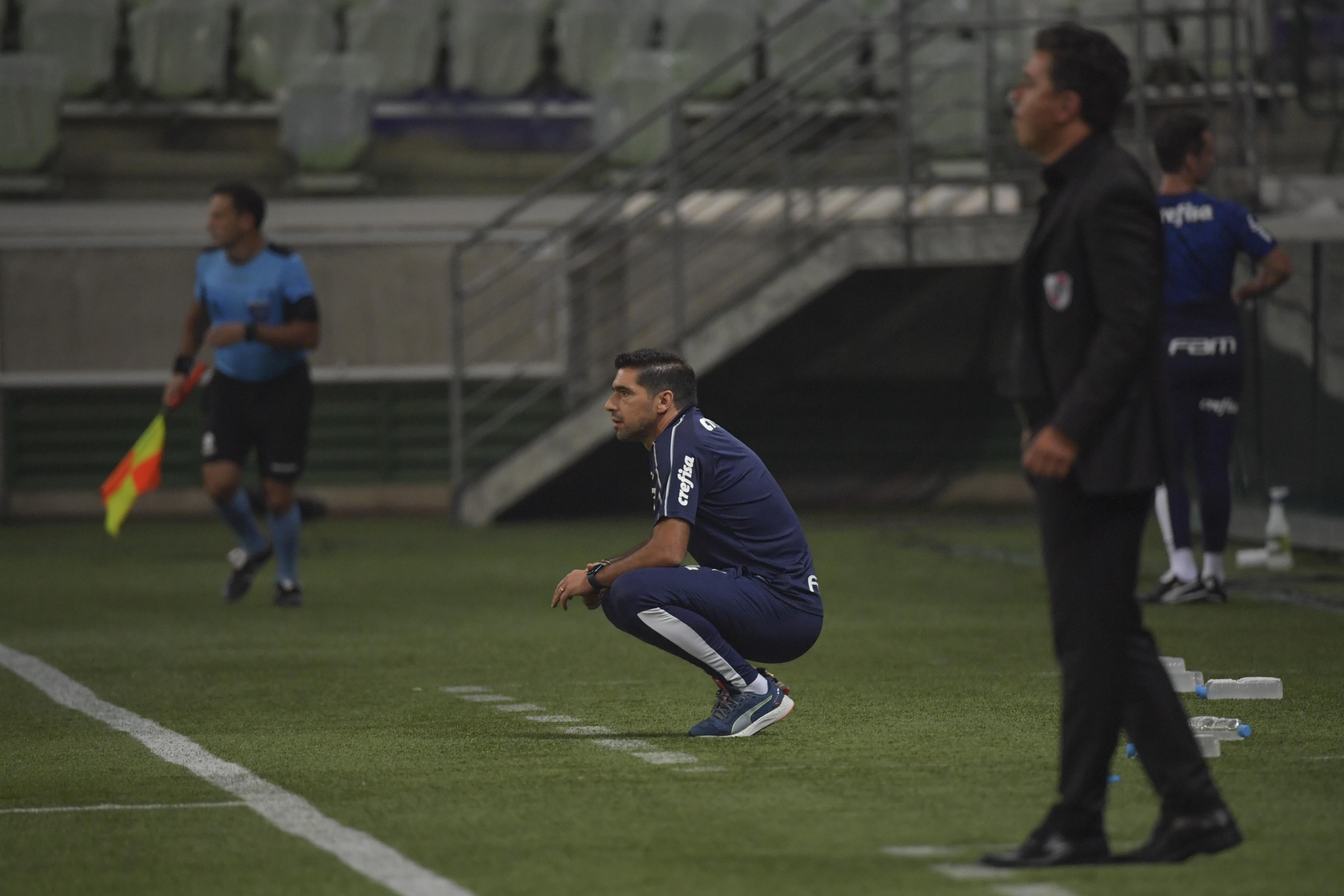 River da Gallardo massacrou o Palmeiras no Allianz Parque, mas equipe de Abel Ferreira garantiu a vaga. Foto: Nelson Almeida/AFP