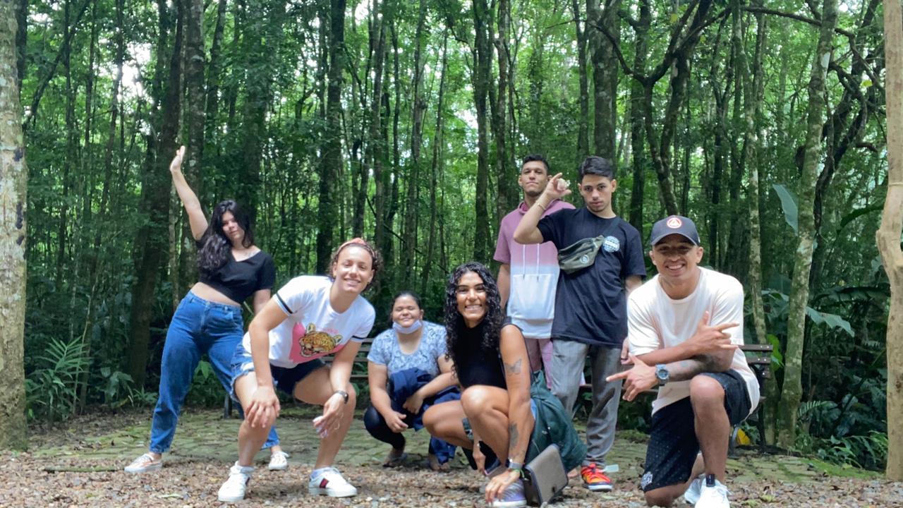 Os jovens atletas do projeto A Casa GB. Foto: Arquivo pessoal.