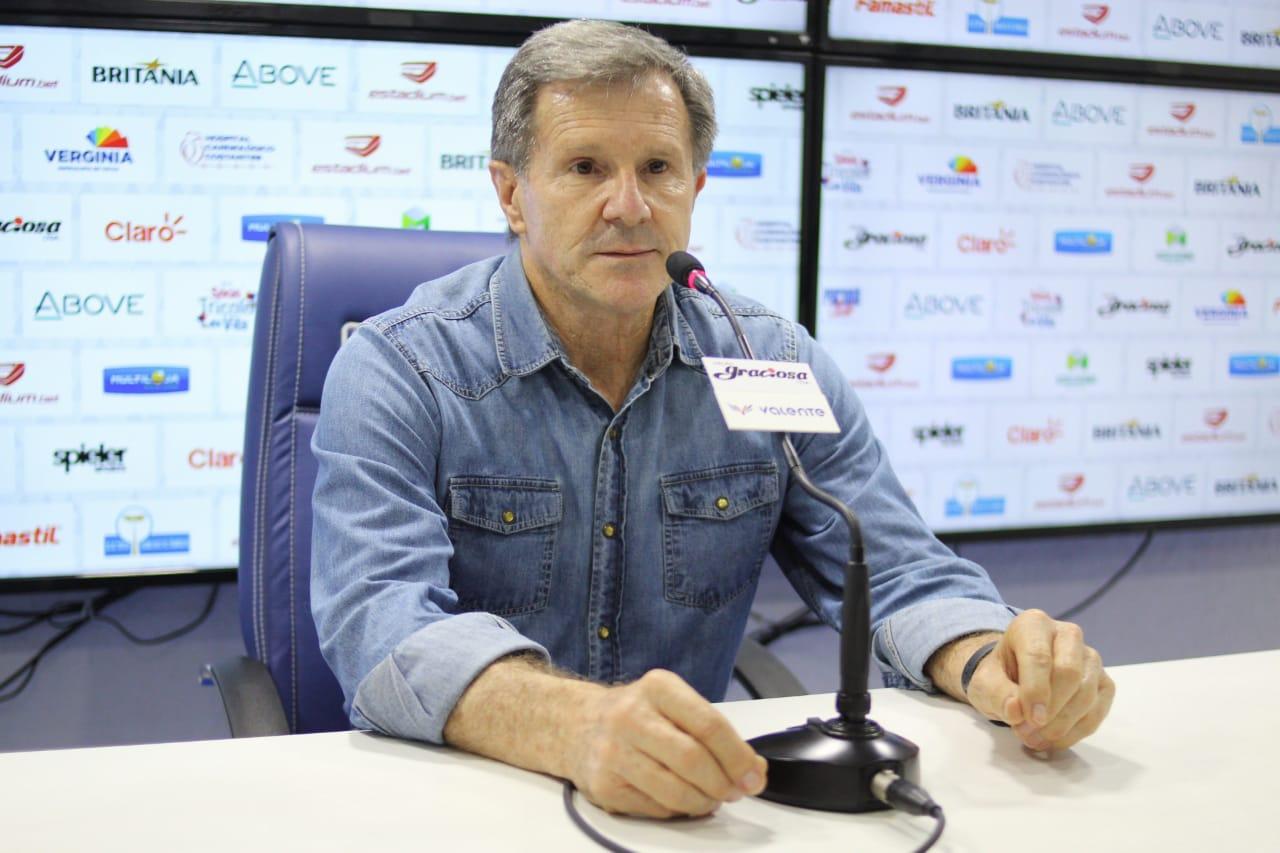 Sérgio Molletta assumiu o Paraná de forma interina. Foto: Rui Santos/Paraná Clube.
