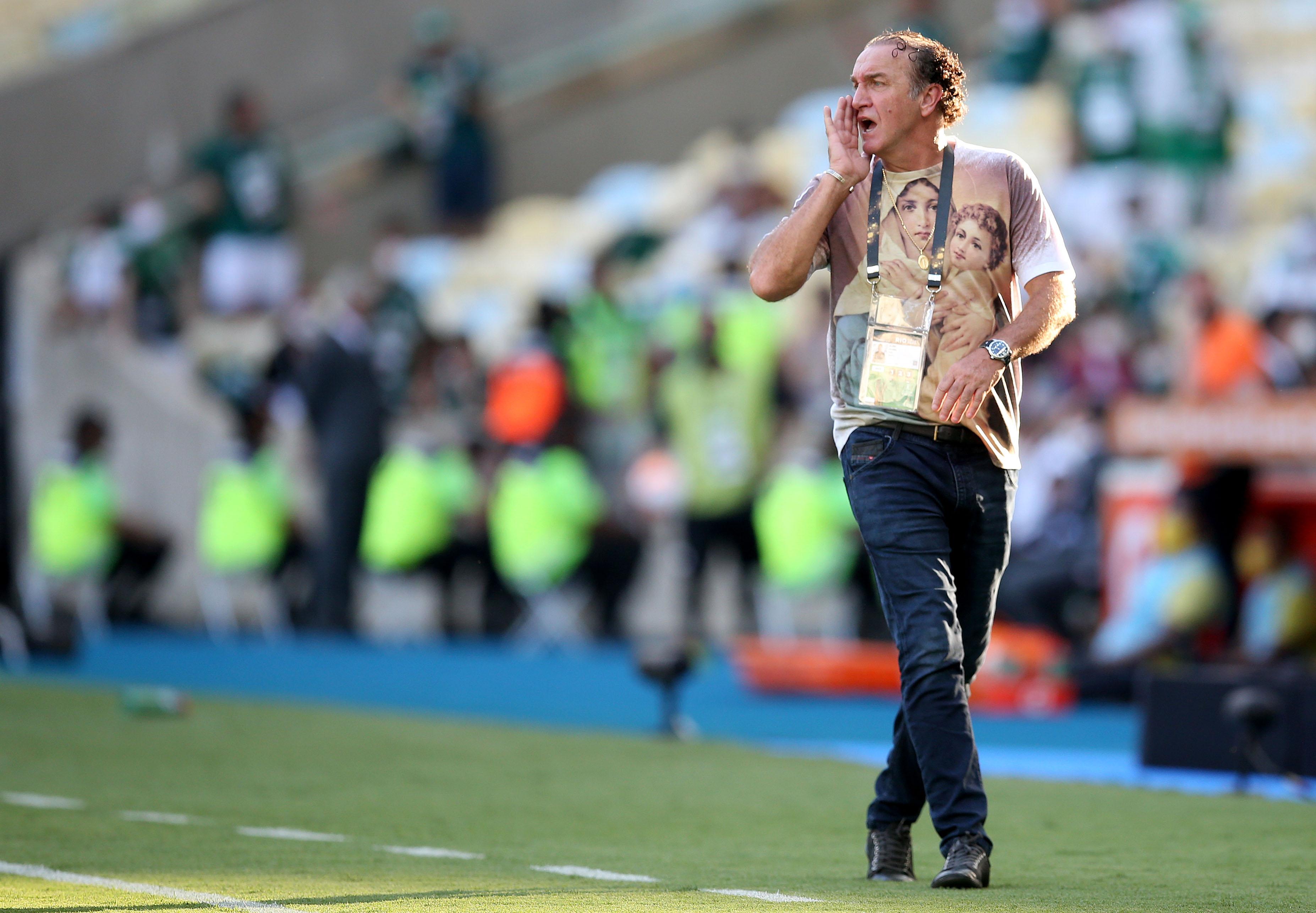 Cuca orienta o Santos na final da Libertadores 2020. Foto: Wilton Júnior/Estadão Conteúdo