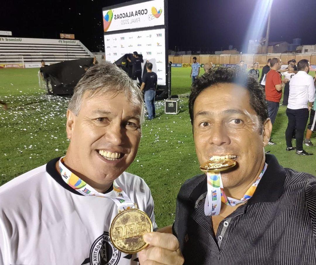 Pichetti e Maurílio foram campeões da Copa Alagoas pelo ASA. Foto: Reprodução.