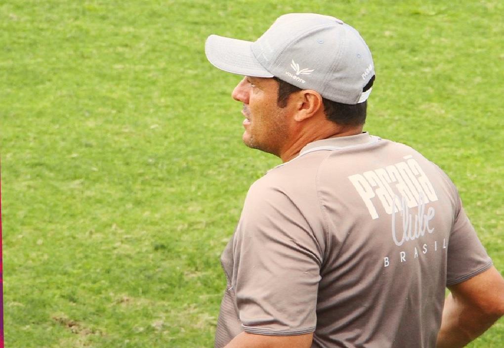 Maurílio no jogo-treino contra o Marcílio Dias. Foto: Allexandre Felipe/Paraná Clube.
