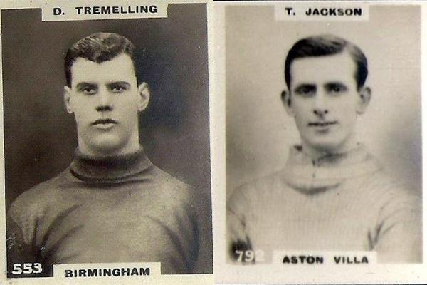 Dan Tremelling, goleiro do Blues (já Birmingham FC) e Tommy Jackson, goleiro do Aston Villa. Crédito: reprodução.