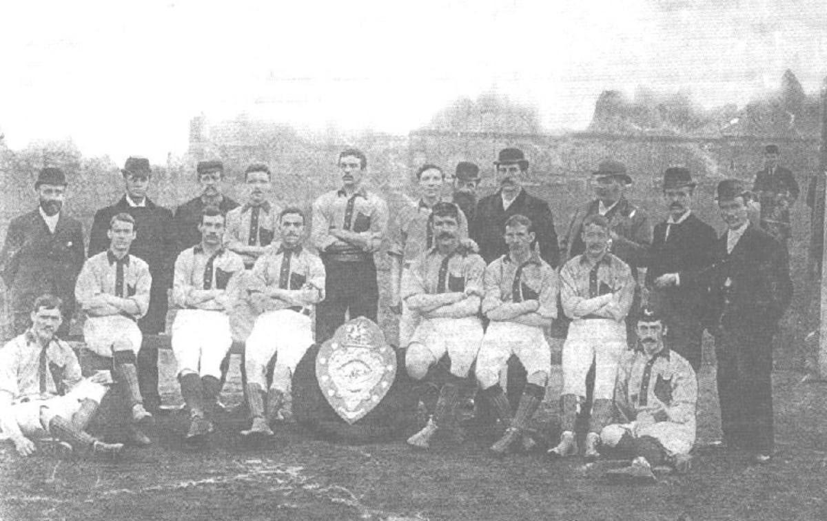 <em>Small Heath FC </em>na segunda divisão na temporada de 1892/93. Crédito: reprodução internet.