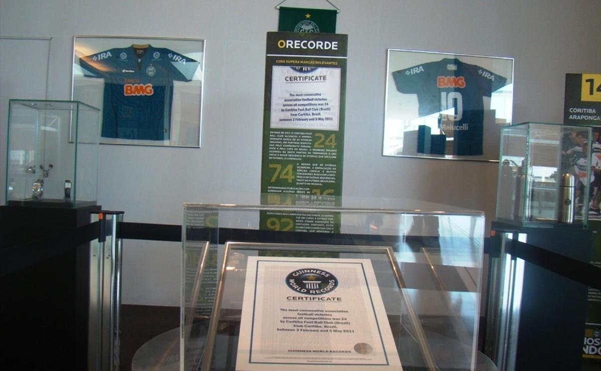 Coritiba chegou a ganhar um certificado do Guinness Book, que durou quase quatro anos. Foto: Divulgação/Coritiba