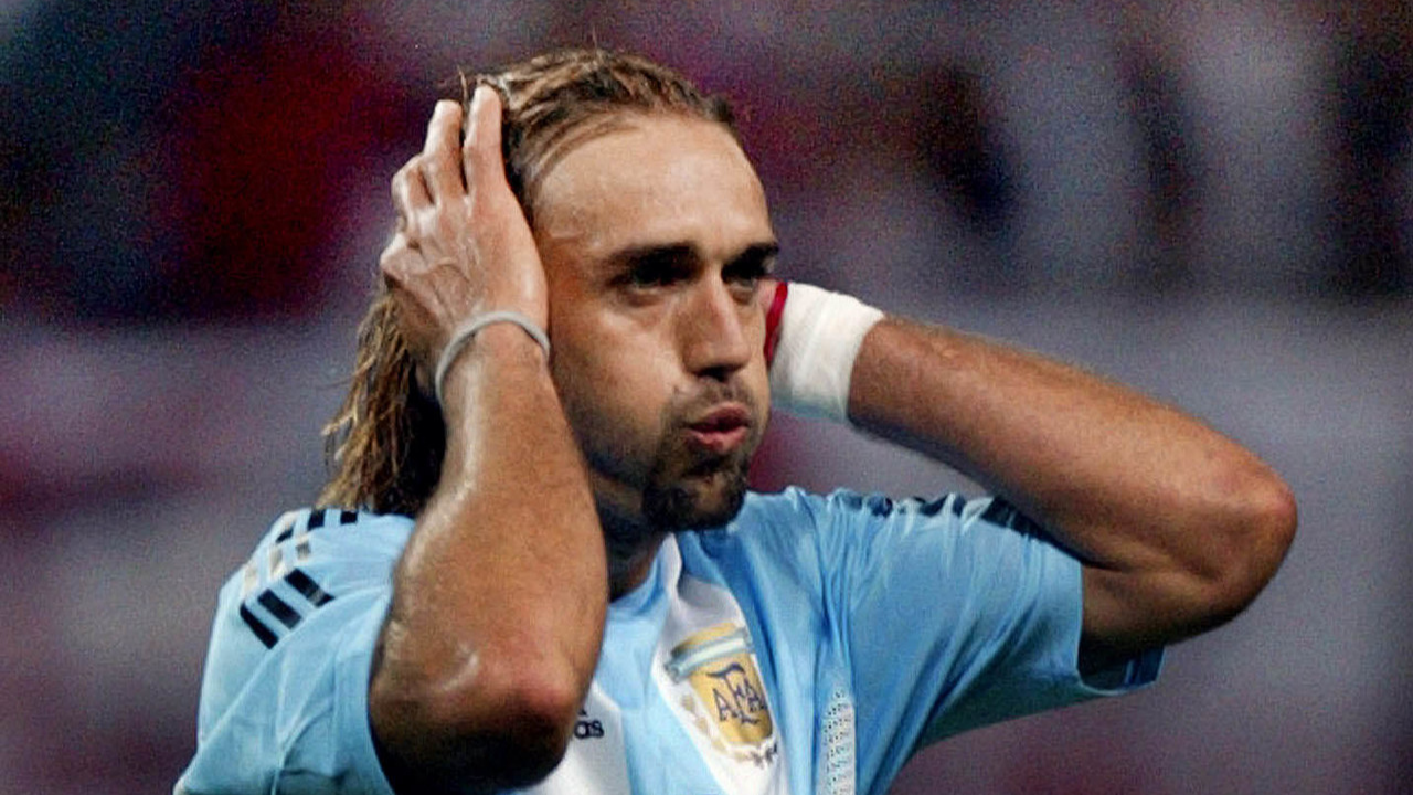 Batistuta durante a Copa de 2002. Foto: AFP