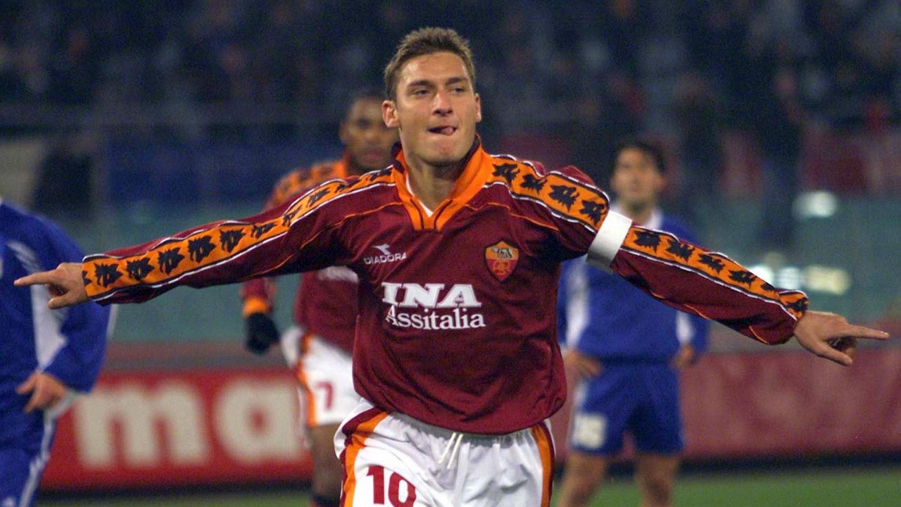 Totti na sala de casa, no Estádio Olímpico. Foto: Reprodução