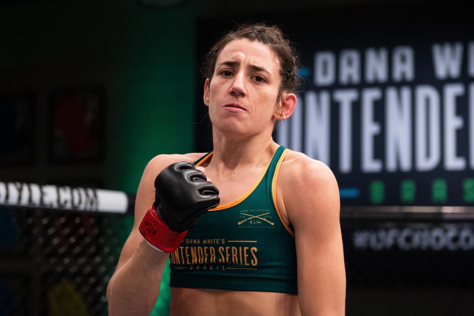 Marina Rodriguez vem embalado no peso-palha. Foto: Divulgação/UFC.