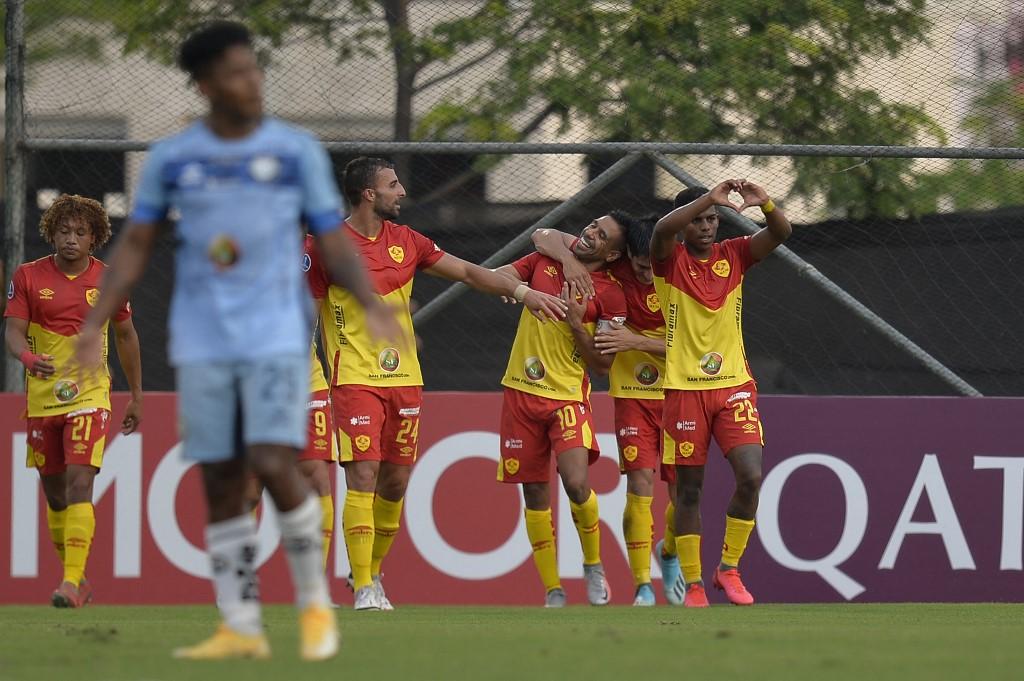Aucas se classificou para a Sul-Americana após eliminar o Guayaquil (Foto: Rodrigo Buendia/AFP)