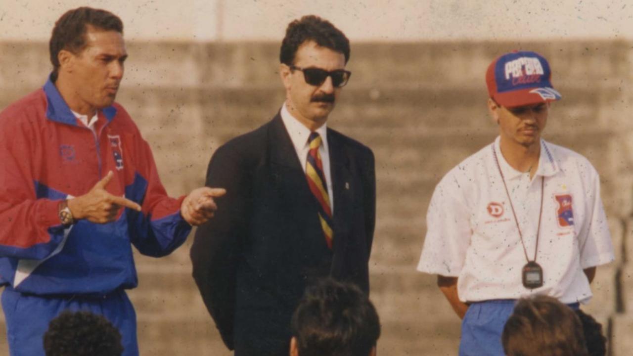 Luxemburgo, Luiz Eduardo Dib (diretor de futebol) e Carlinhos Neves no Paraná.