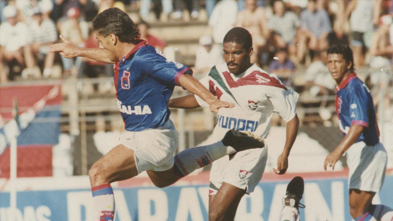 Maurílio e Saulo no Brasileirão de 95. Foto: Antonio Costa/Gazeta do Povo