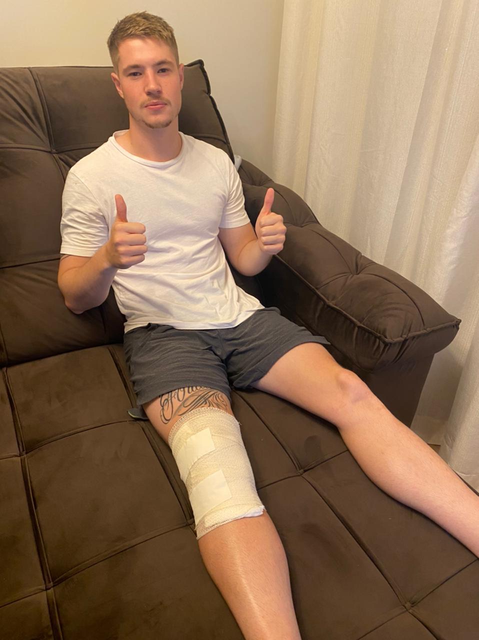 Zagueiro Henrique Vermudt está em recuperação após cirurgia no joelho (Foto: Arquivo Pessoal)