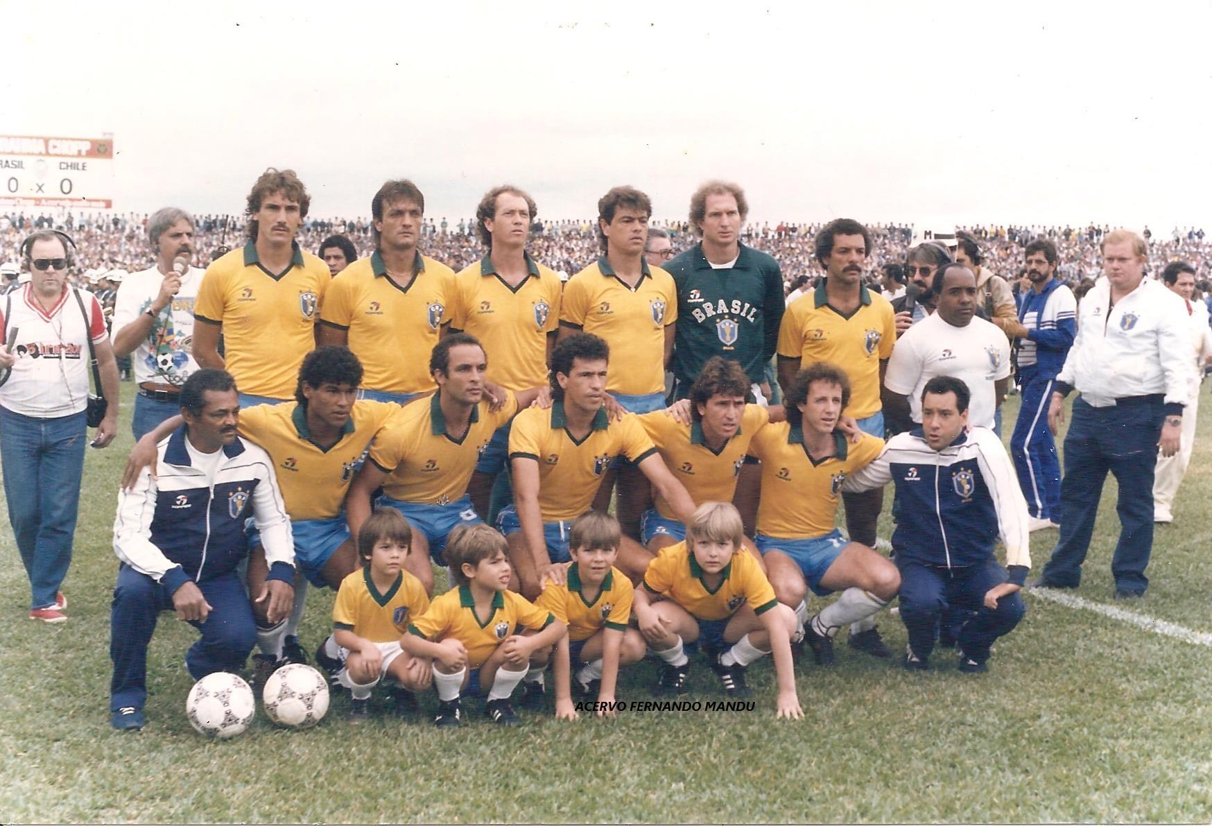 Família Mandu também prestigiou o amistoso entre Brasil x Chile, em 1986, no Pinheirão (Arquivo Pessoal)