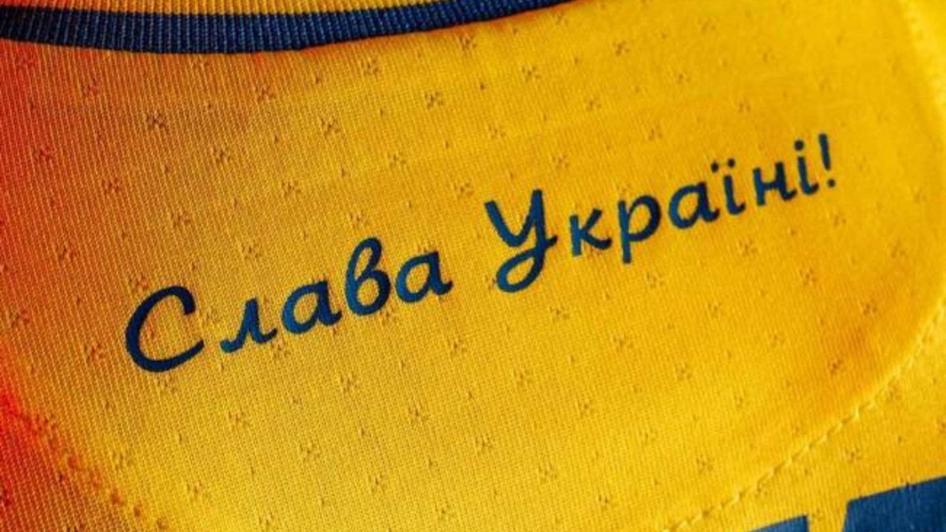 Frase polêmica da camisa da Ucrânia. Foto: Divulgação