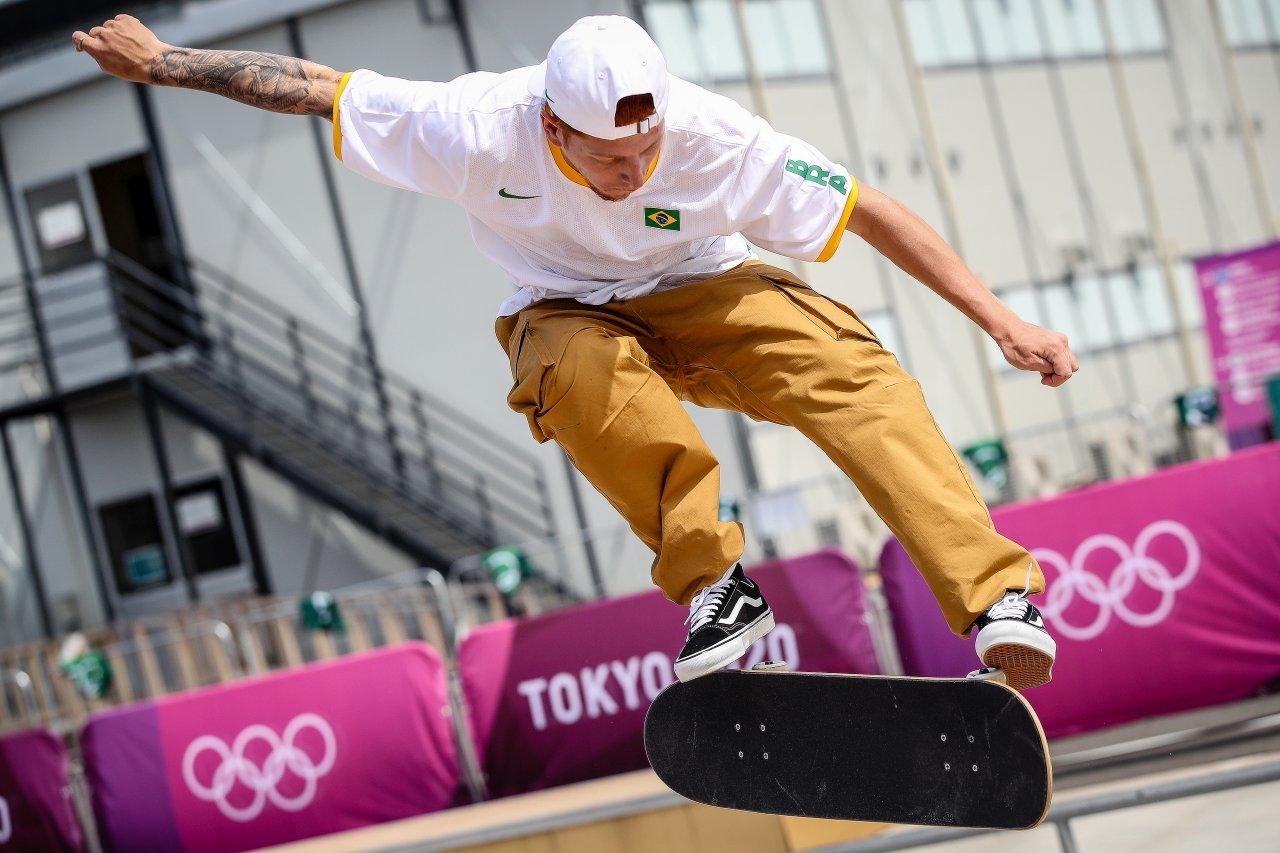Giovanni Viana treinando em Tóquio.