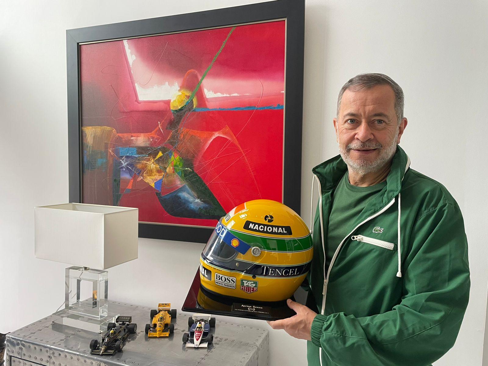 Ayrton Senna é um dos ídolos do dirigente. Foto: Arquivo Pessoal.