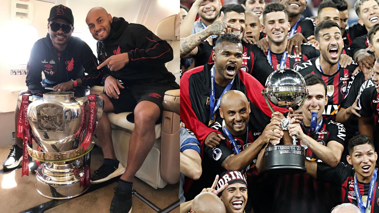 Nikão e Jonathan, juntos nas conquistas inéditas da Copa do Brasil e Sul-Americana
