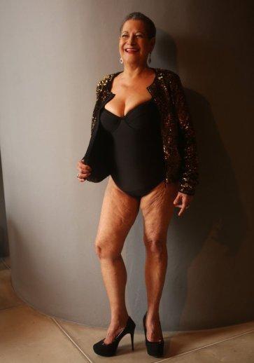 """Dona Geralda faz ensaio sensual para """"Miss Bumbum Melhor Idade"""""""