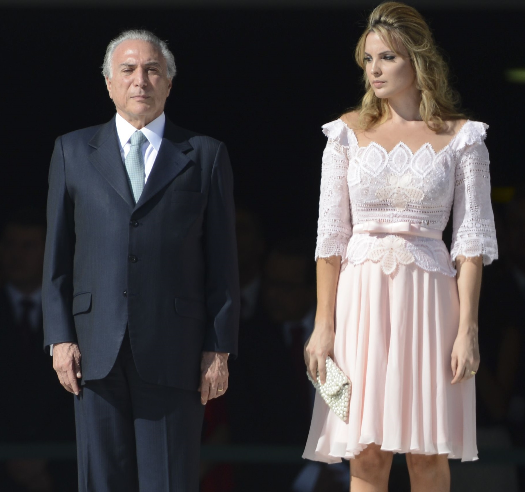 Marcela Temer dá prioridade aos tons claros na hora de vestir. Foto: Agência Brasil/José Cruz