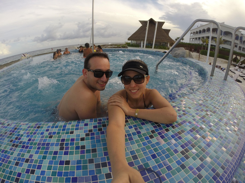 """Martina em """"visita técnica"""" com o noivo, Rafael Ritter. """"Planejamento é fundamental"""". Foto: arquivo pessoal"""