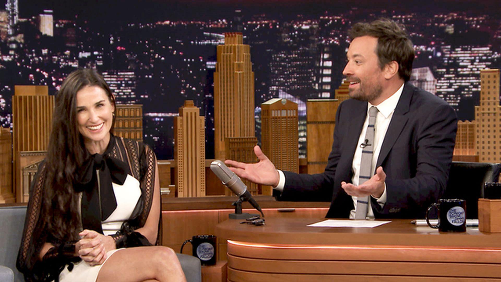 Demi Moore fala sobre o problema em entrevista humorada ao The Tonight Show (Foto: reprodução/NBC)