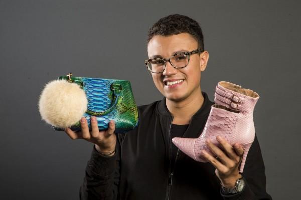 Pedro trabalha apenas com couro exótico, como píton, pirarucu e crocodilo. (Foto: Hugo Harada/Gazeta do Povo)