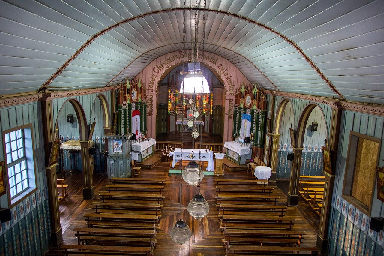 Igreja centenária polonesa Água Branca, um dos destinos do passeio. Foto: Larissa Drabeski/Divulgação
