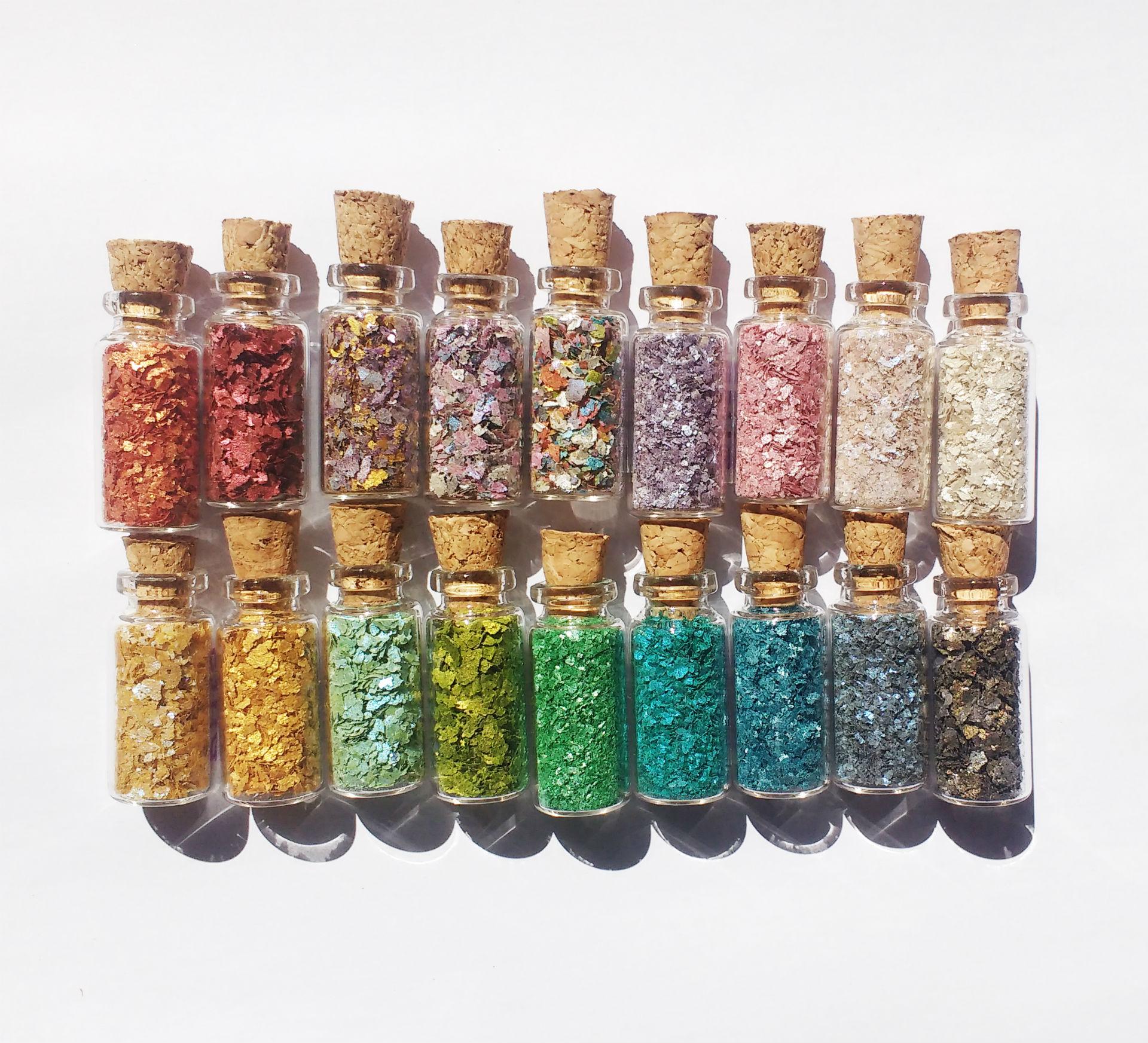 Opções de cores da Pura Bioglitter. Foto: Divulgação.