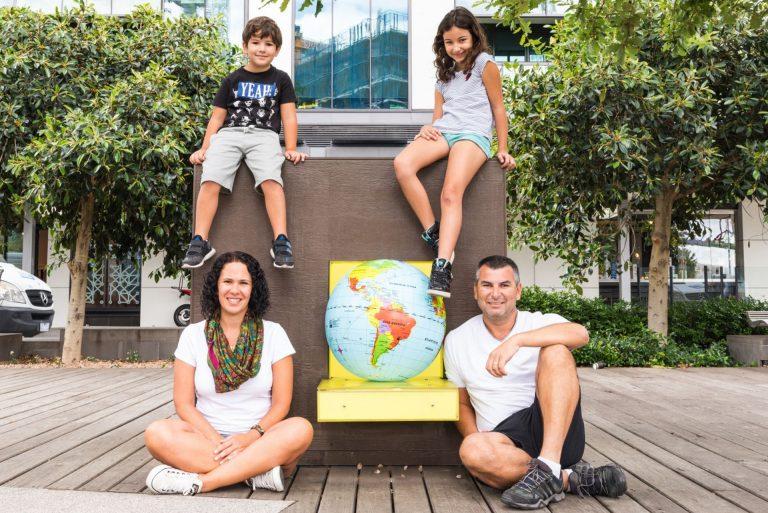 A família passou por 32 países de quatro continentes. Foram 400 dias de viagem terminando na Nova Zelândia. Foto: acervo pessoal.