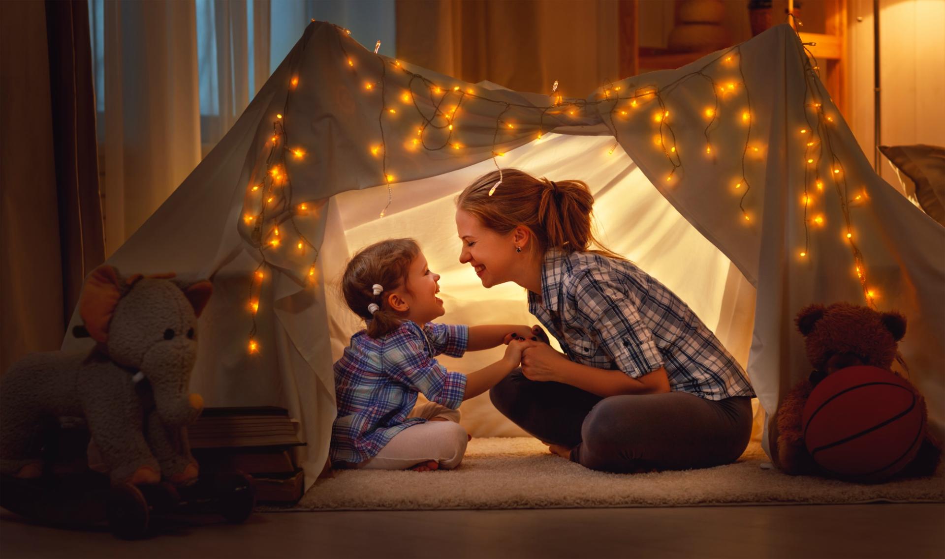 Fazer uma cabana cria uma nova atmosfera dentro de casa. Foto: Bigstock