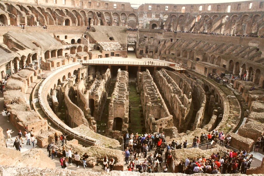 Por dentro do Coliseu, em Roma. Foto: Carolina Werneck/Gazeta do Povo